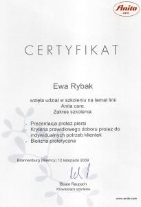 sklep z bielizną Lilly w Toruniu certyfikat Care