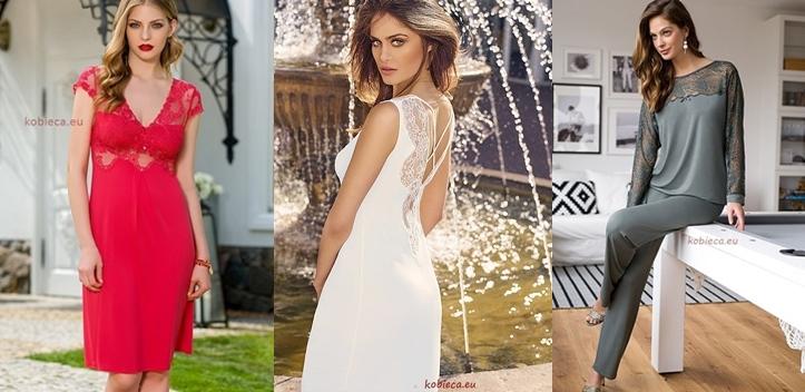 Coemi eleganckie piżamy szlafroki